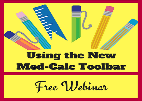 Using the New Med-Calc Toolbar rect